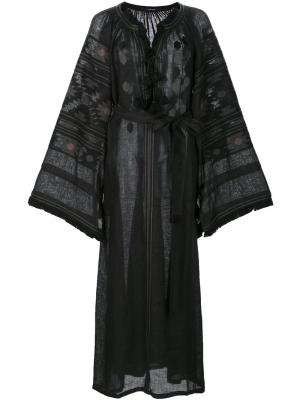 Платье с вышивкой и кисточками Vita Kin. Цвет: чёрный