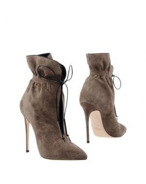 Полусапоги и высокие ботинки ALEJANDRO INGELMO. Цвет: серый