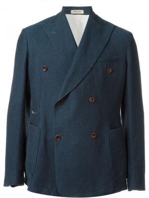 Двубортный пиджак Al Duca D'Aosta 1902. Цвет: синий