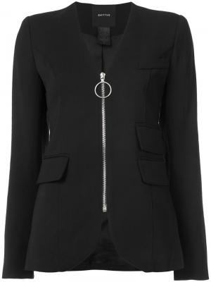Пиджак без воротника Smythe. Цвет: чёрный