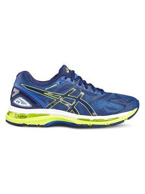 Спортивная обувь GEL-NIMBUS 19 ASICS. Цвет: темно-синий, белый, голубой, желтый, синий