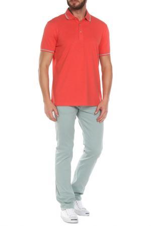 Рубашка-поло Z Zegna. Цвет: коралловый
