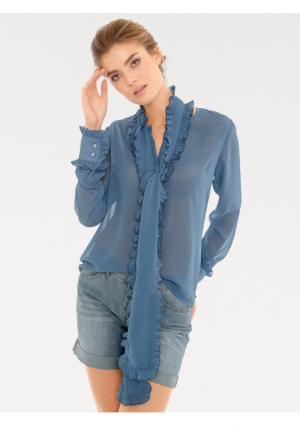 Блузка Rick Cardona. Цвет: синий