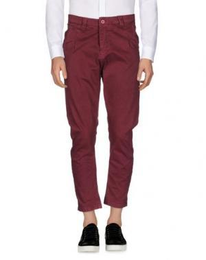 Повседневные брюки EXIBIT. Цвет: красно-коричневый
