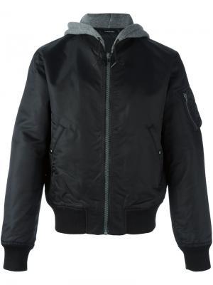 Куртка с капюшоном R13. Цвет: чёрный