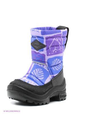 Сапоги KUOMA. Цвет: синий, фиолетовый, черный