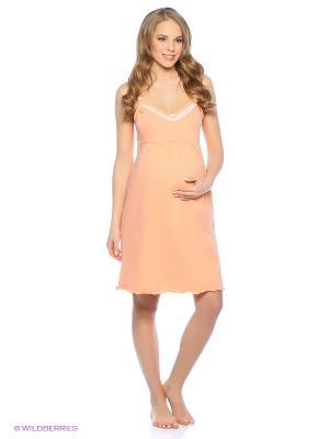 Сорочка Hunny Mammy. Цвет: оранжевый