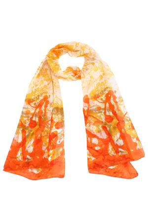 Шарф F.FRANTELLI. Цвет: желтый, оранжевый