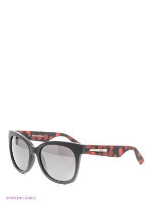 Солнцезащитные очки McQueen. Цвет: черный, прозрачный