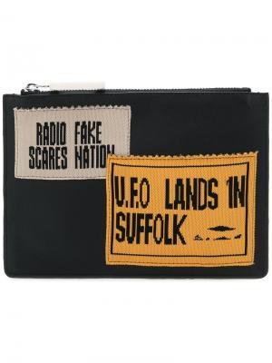 Бумажник на молнии с заплатками JW Anderson. Цвет: чёрный