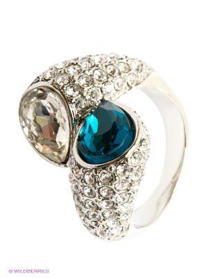Кольцо Krikos. Цвет: синий, серебристый