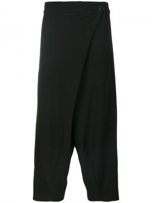 Укороченные свободные брюки Henrik Vibskov. Цвет: чёрный
