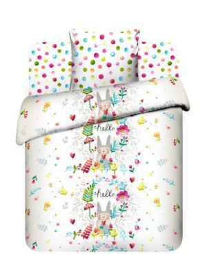 Комплект постельного белья Василек. Цвет: белый