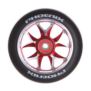 Колесо для самоката  F8 Alloy Core Wheel 110mm With Abec 9 Bearings Red/Black Phoenix. Цвет: черный,красный,серый