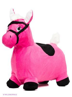 Лошадка-попрыгунчик Наша Игрушка. Цвет: розовый, черный