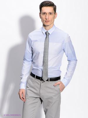 Рубашка Calvin Klein. Цвет: светло-голубой