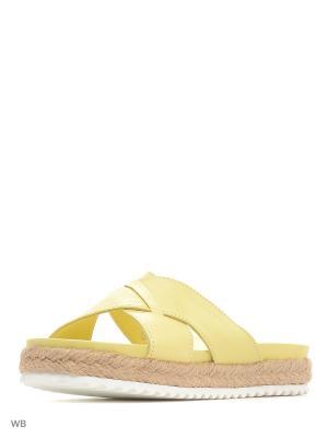 Пантолеты Tucino. Цвет: желтый