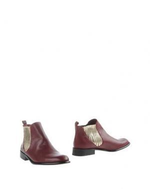 Полусапоги и высокие ботинки MYSUELLY. Цвет: красно-коричневый