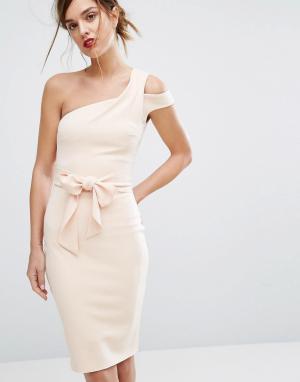 Bec & Bridge Платье миди Ellette. Цвет: розовый