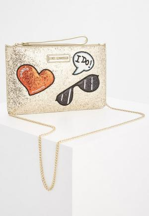Клатч Love Moschino. Цвет: золотой