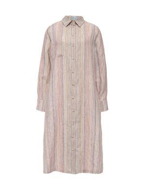 Платье рубашка летнее на пуговицах в полоску Bella kareema