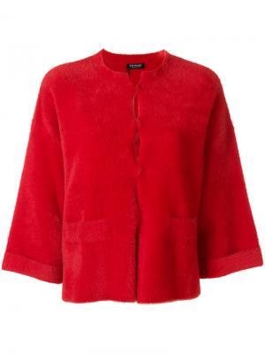 Пиджак с укороченными рукавами Twin-Set. Цвет: красный