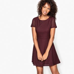 Платье короткое, рукава короткие MOLLY BRACKEN. Цвет: бордовый