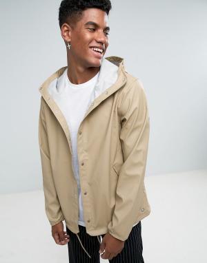 Herschel Supply Co Бежевая водонепроницаемая спортивная куртка с капюшоном Forec. Цвет: бежевый