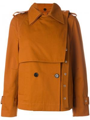 Короткое пальто-тренч Proenza Schouler. Цвет: жёлтый и оранжевый