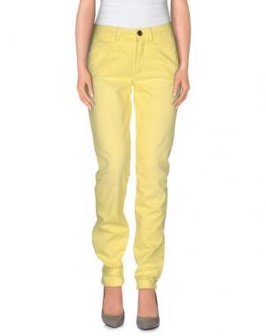 Повседневные брюки VINTAGE 55. Цвет: желтый