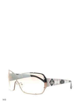Солнцезащитные очки VW 630 03 Vivienne Westwood. Цвет: розовый, белый, черный