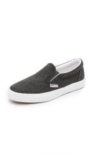 Шерстяные кроссовки 2311 без шнурков Superga. Цвет: темно-серый