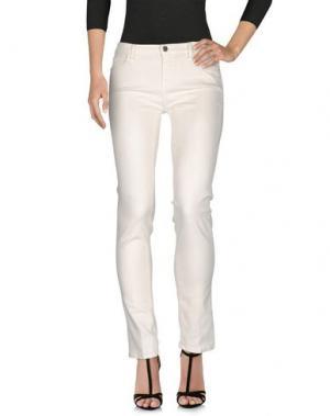 Джинсовые брюки PEUTEREY. Цвет: слоновая кость