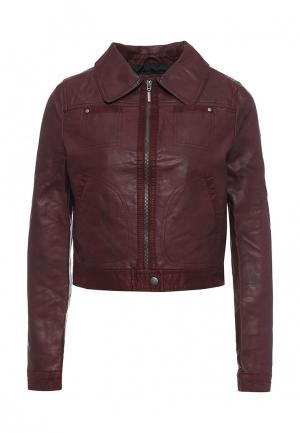 Куртка кожаная Urban Bliss. Цвет: бордовый