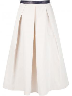 Плиссированная юбка Martin Grant. Цвет: телесный
