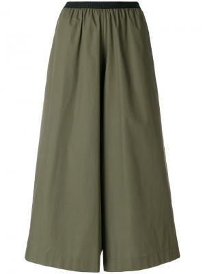 Укороченные широкие брюки Antonio Marras. Цвет: зелёный