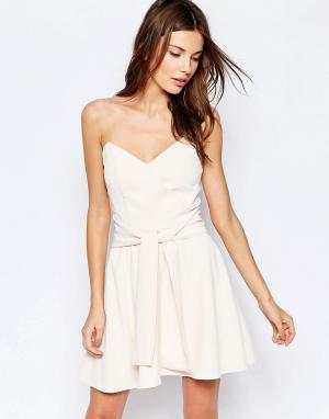 Keepsake Платье мини без бретелек Get Free. Цвет: розовый