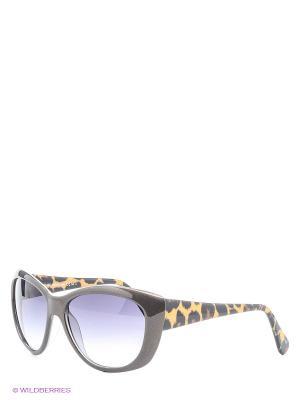 Солнцезащитные очки Franco Sordelli. Цвет: коричневый, желтый, черный