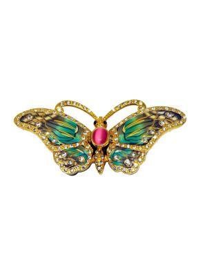 Шкатулка Бабочка Yen Ten. Цвет: бирюзовый, золотистый
