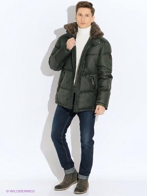 Куртка VIVACANA. Цвет: хаки
