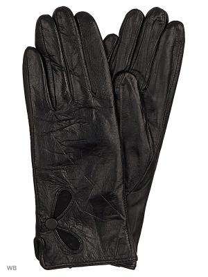 Перчатки женские кожаные Cascatto. Цвет: черный