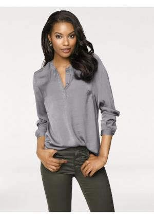 Блузка PATRIZIA DINI. Цвет: серо-коричневый, экрю