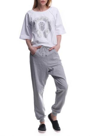 Костюм: джемпер, брюки Majaly. Цвет: серый, белый