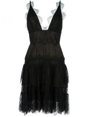Кружевное платье с пышной юбкой Maria Lucia Hohan. Цвет: чёрный