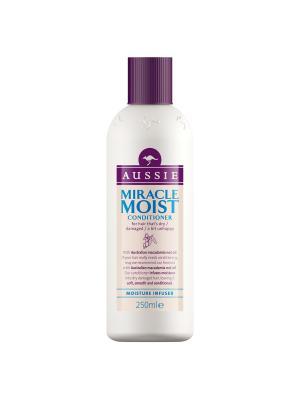 Бальзам-ополаскиватель Miracle Moist для сухих/поврежденных волос 250мл AUSSIE. Цвет: бежевый