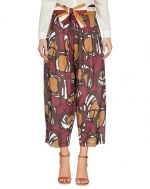 Повседневные брюки SOUVENIR. Цвет: темно-коричневый