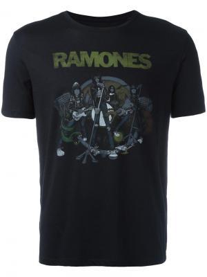 Футболка с принтом Ramones John Varvatos. Цвет: чёрный