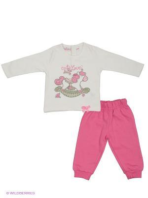 Комплект EWIVA. Цвет: розовый, белый