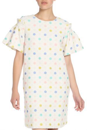 Платье Ketroy. Цвет: белый, горох