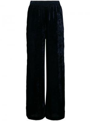 Бархатные брюки палаццо Nili Lotan. Цвет: синий